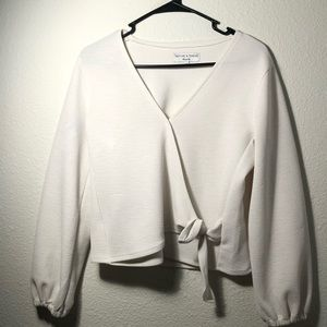 Madewell Long Sleeve Wrap Top